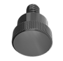 Thumbscrews - Black Nylon, 1/4